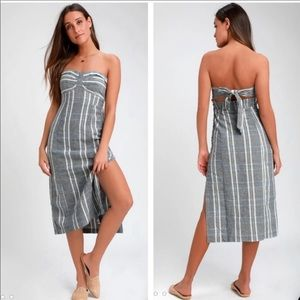 NWT Free People Life Like This Midi Dress Size S